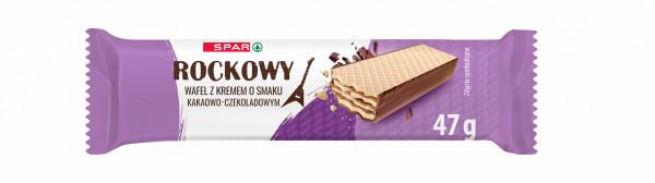 Spar wafle przekładane kremem o smaku kakaowo czekoladow.pokryte czek.