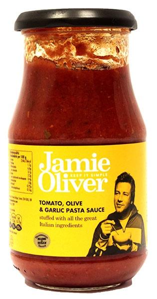 Sos pomidorowy z oliwkami i czosnkiem Jamie Oliver