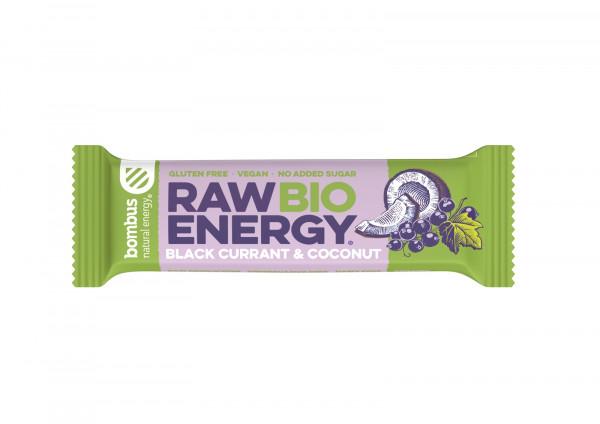Baton raw energy bio czarna porzeczka - kokos b/g bombus bio