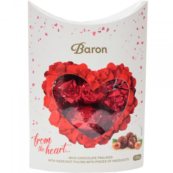 Bomboniera baron serduszko kartonik