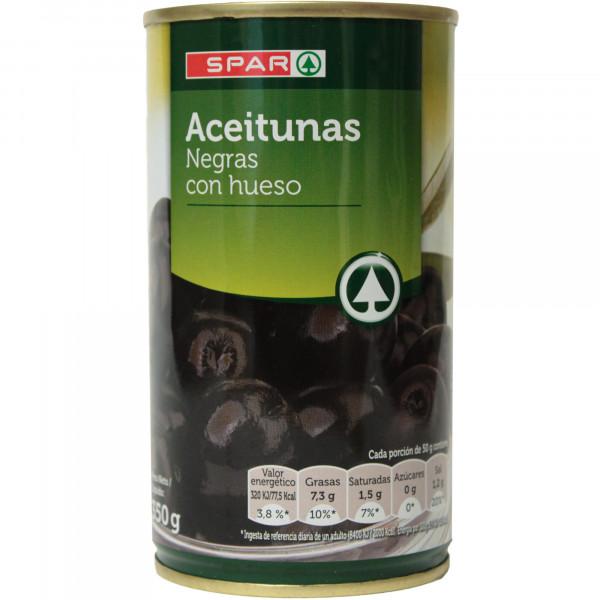 Spar oliwki czarne z pestką
