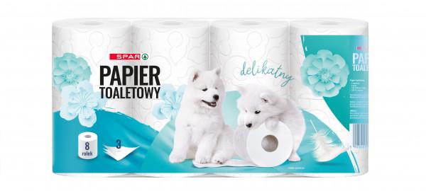 Spar papier toaletowy 3 warstwowy 8 rolek
