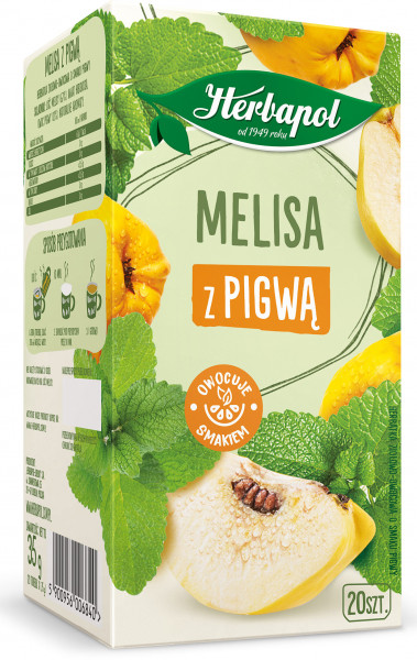 Herbata ekspresowa herbapol melisa z pigwą 20tx1,5g