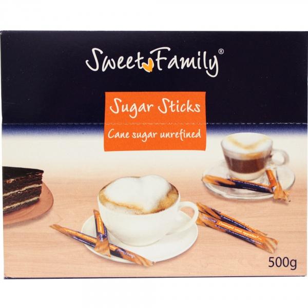 Cukier trzcinowy w saszetkach sweet family