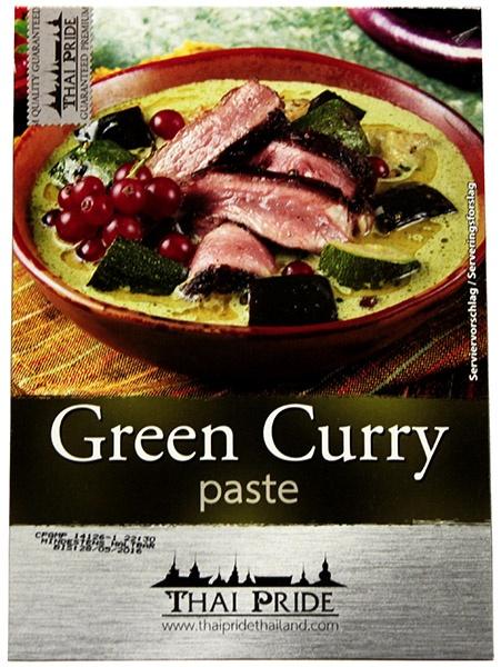 Pasta curry zielona