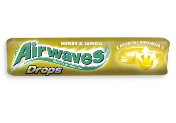 Cukierek Airwaves Drops Honey & Lemon