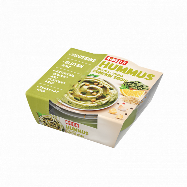 Hummus Ribella z pestkami dyni