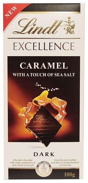 Czekolada Lindt gorzka z solą morską i karmelem